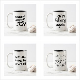 Typography Mugs with Fun Phrases