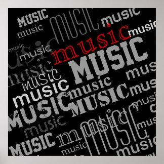 typography music decor idea poster