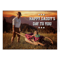 Typography Overlay Dad Daughter Photo Daddy's Day Card