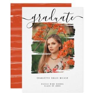 Typography Photo Personalized Graduation Invitation