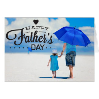 Typography Photo Template Happy Father's Day Card