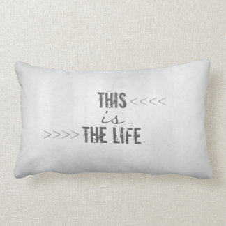 typography  quote accent pillow pale gray