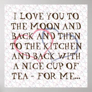 Typography Romantic Quote Everyday Tea Love Poster