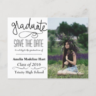 photo graduation party save the date cards zazzle
