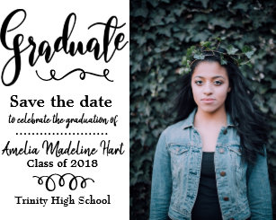 save the date graduation postcards zazzle
