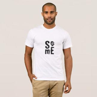 Typography Social Media Cool Black Print T-Shirt