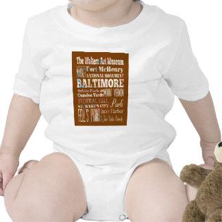 typography, souveneir, maryland, baltimore, memory t-shirts
