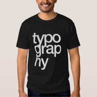 typography tee shirt
