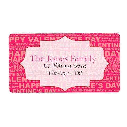 Typography Valentine's Day Stickers