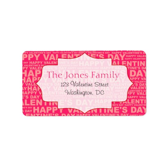 Typography Valentine's Day Stickers Label