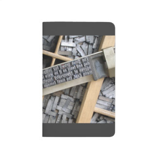 Typography; vintage metal letters - letterbox journal