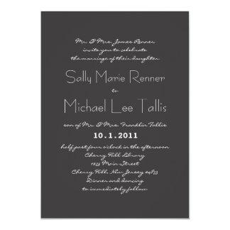 "Typography Wedding Invitation 5"" X 7"" Invitation Card"