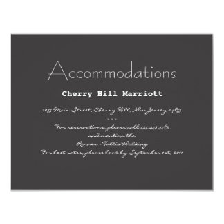 Typography Wedding Invitation Insert