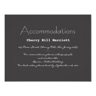 "Typography Wedding Invitation Insert 4.25"" X 5.5"" Invitation Card"
