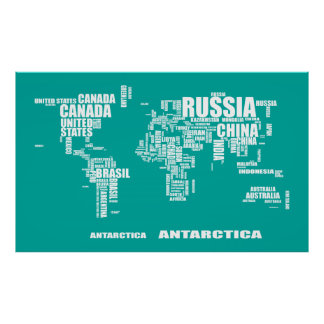Typography World Map Poster