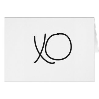 Typography XO hugs and kisses calligraphy Greeting Card