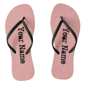 Typography Your Name on any Color Flip Flops