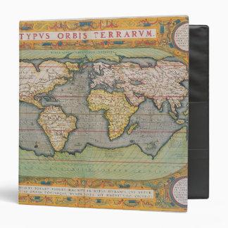 Typus Orbis Terrarum, map of the world 3 Ring Binder
