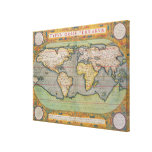 Typus Orbis Terrarum, map of the world Gallery Wrapped Canvas
