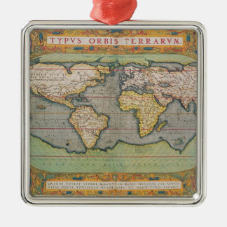 Typus Orbis Terrarum, map of the world Metal Ornament
