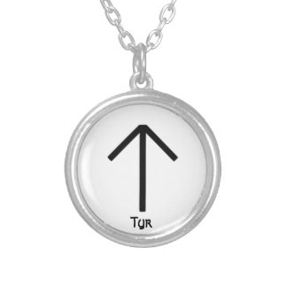 Tyr Round Pendant Necklace