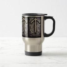Tyr - Tiwaz (T) 15 Oz Stainless Steel Travel Mug