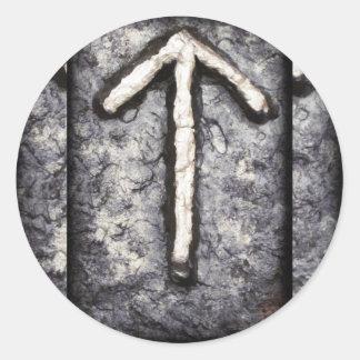 Tyr - Tiwaz (t) Pegatina Redonda