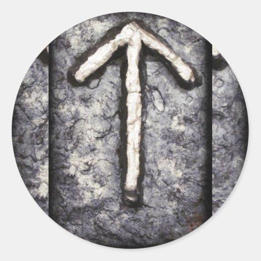 Tyr - Tiwaz (T) Round Stickers