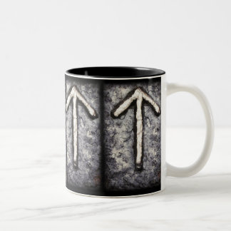 Tyr - Tiwaz (T) Two-Tone Coffee Mug
