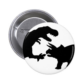 Tyrannosaur and Triceratops b Button