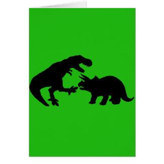 Tyrannosaur and Triceratops b Card