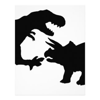 Tyrannosaur and Triceratops b Letterhead