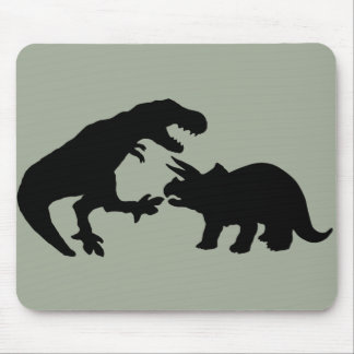 Tyrannosaur and Triceratops b Mouse Pad