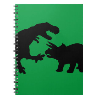 Tyrannosaur and Triceratops b Notebook