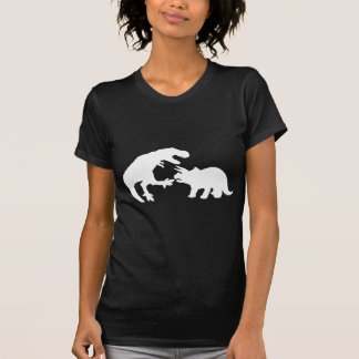 Tyrannosaur and Triceratops w T-shirt
