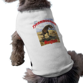 Tyrannosaura Regina Playera Sin Mangas Para Perro