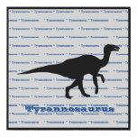 Tyrannosaurus 1 faux canvas print