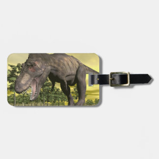Tyrannosaurus angry - 3D render Luggage Tag