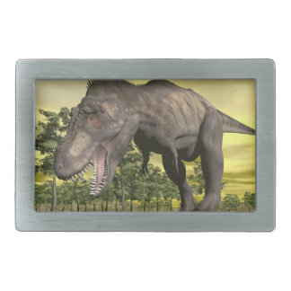 Tyrannosaurus angry - 3D render Rectangular Belt Buckle