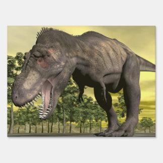 Tyrannosaurus angry - 3D render Yard Sign