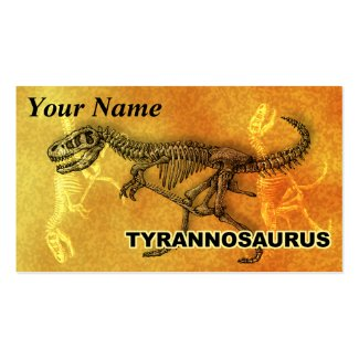 Tyrannosaurus Business Card Template