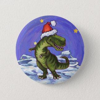 Tyrannosaurus Christmas Pinback Button