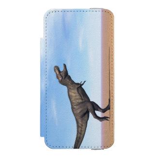 Tyrannosaurus dinosaur in the desert - 3D render Wallet Case For iPhone SE/5/5s