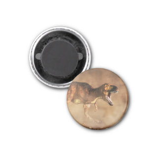 Tyrannosaurus in a Dust Storm 1 Inch Round Magnet