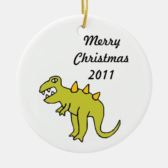Tyrannosaurus  Kids Artwork Ceramic Ornament