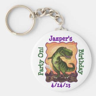 Tyrannosaurus Party Center Key Chain