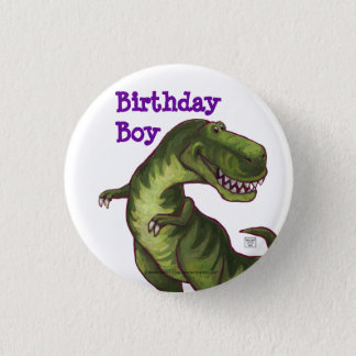 Tyrannosaurus Party Center Pinback Button