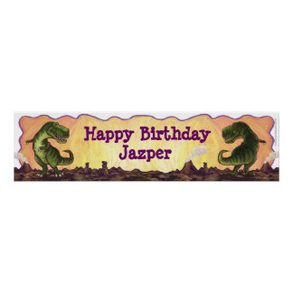 Tyrannosaurus Party Center Poster