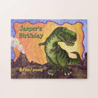 Tyrannosaurus Party Center Jigsaw Puzzle