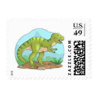 tyrannosaurus postage stamp